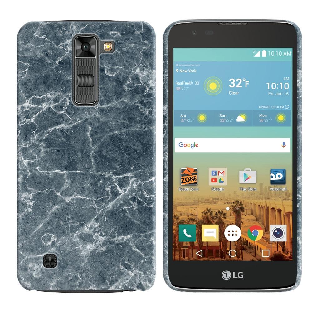 LG K7 Tribute 5 LS675 MS330-LG M1-LG Treasure L51AL L51VL L52AL L52VL Blue Stone Marble Back Cover Case