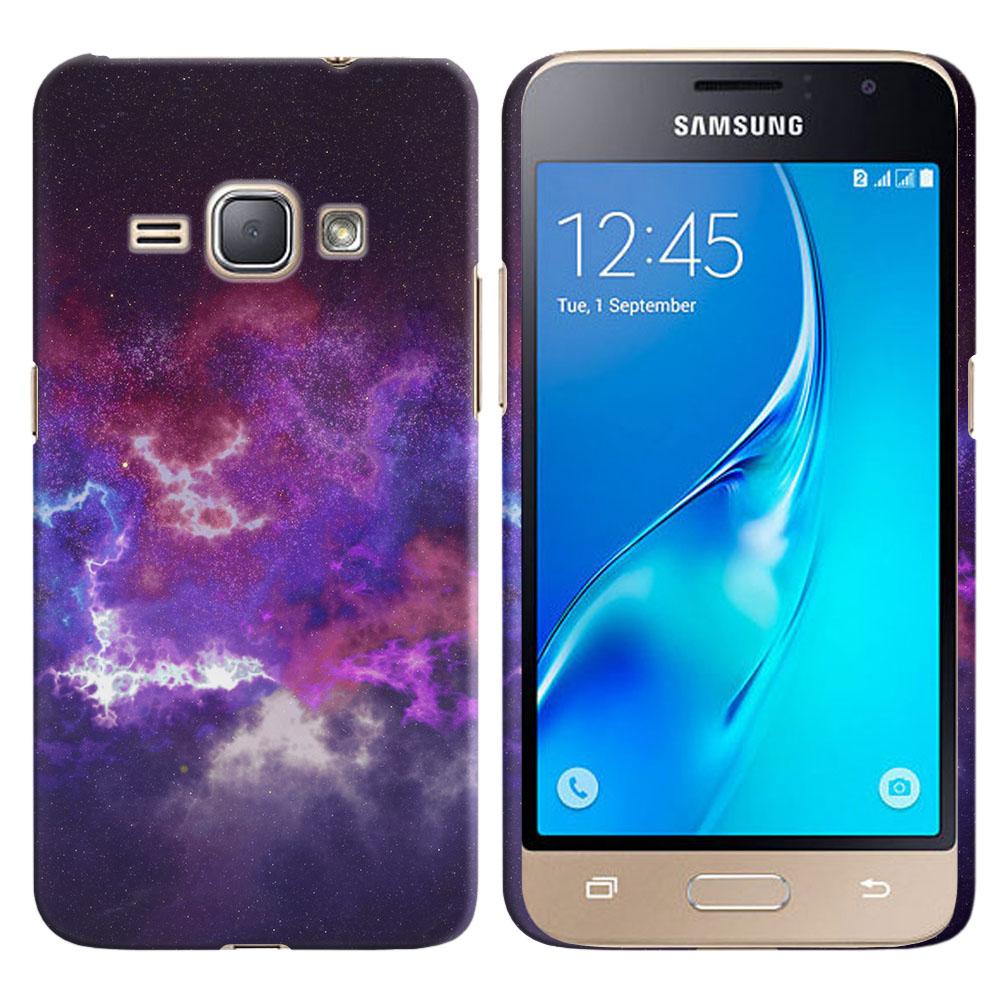 Samsung Galaxy J1 J120 2nd Gen 2016-Samsung Galaxy AMP 2 2nd Gen 2016-Samsung Galaxy Express 3-Samsung Galaxy Luna S120 Purple Nebula Space Back Cover Case