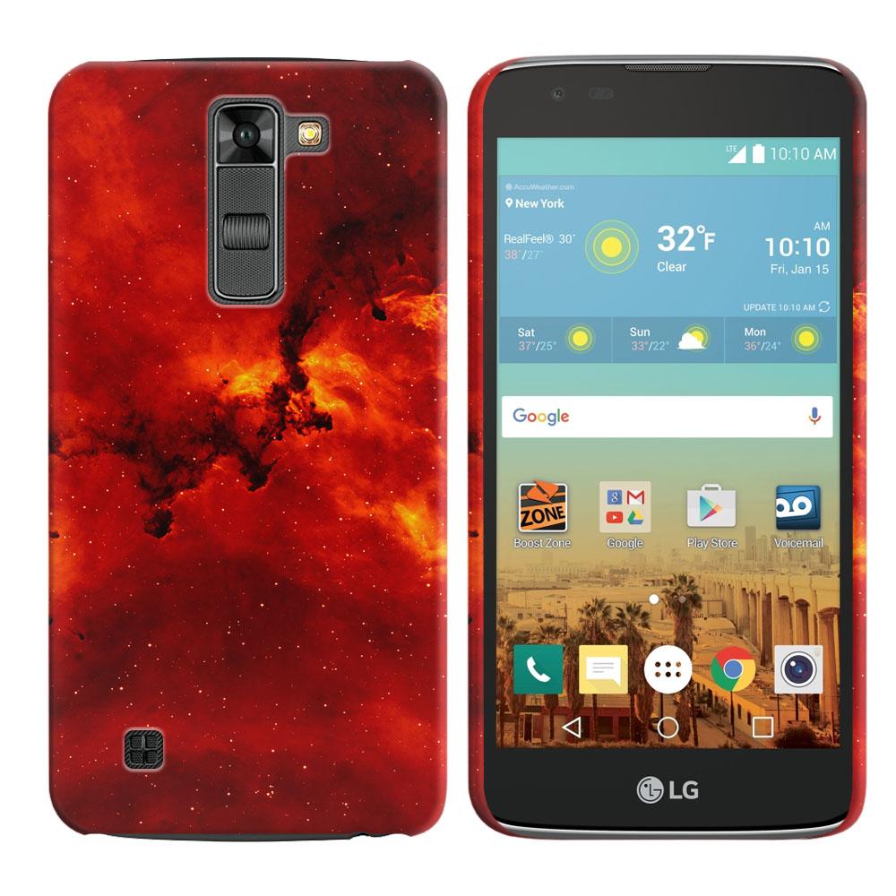 LG K7 Tribute 5 LS675 MS330-LG M1-LG Treasure L51AL L51VL L52AL L52VL Fiery Galaxy Back Cover Case