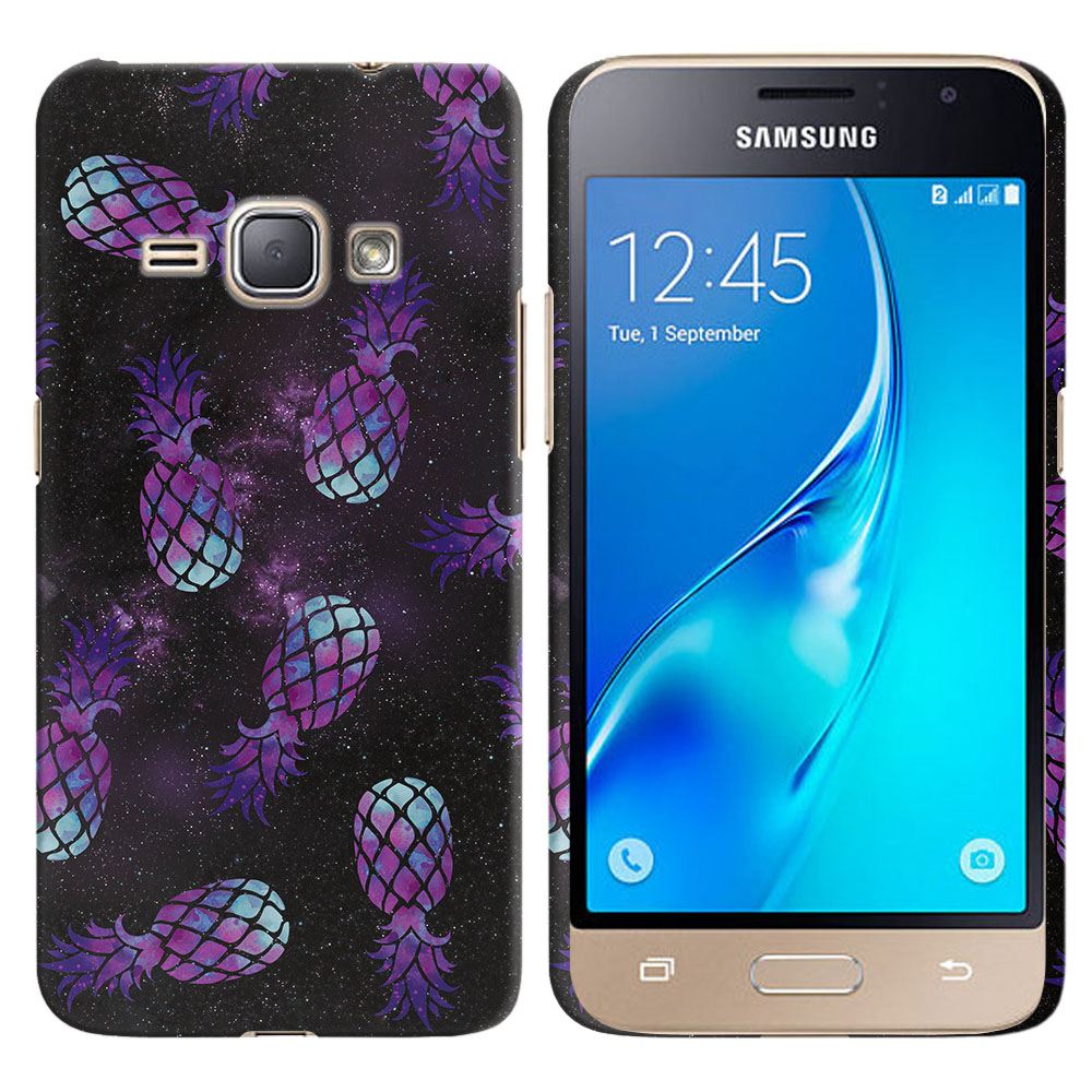 Samsung Galaxy J1 J120 2nd Gen 2016-Samsung Galaxy AMP 2 2nd Gen 2016-Samsung Galaxy Express 3-Samsung Galaxy Luna S120 Purple Pineapples Galaxy Back Cover Case