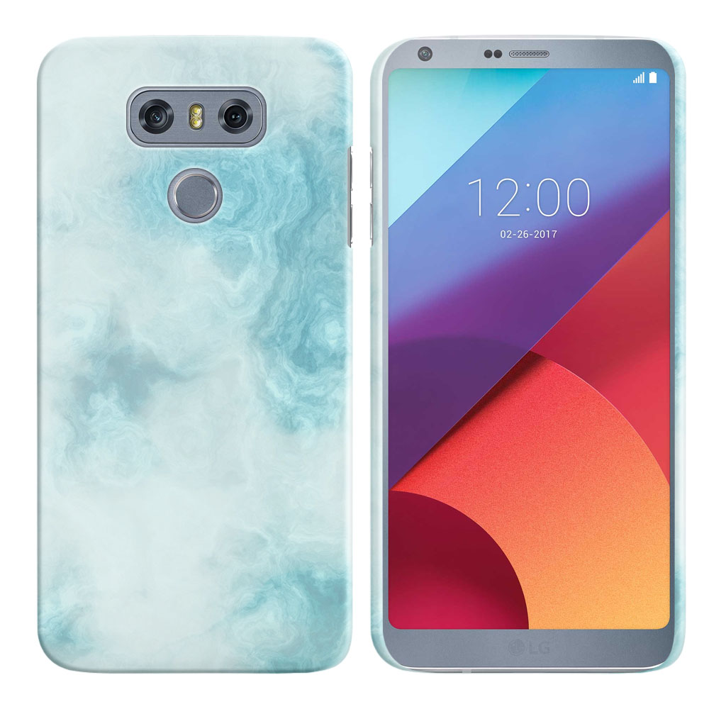 LG G6 H870-H871-H872-H873-US997-LS993-VS998-AS993-G6  Plus US997 Blue Cloudy Marble Back Cover Case
