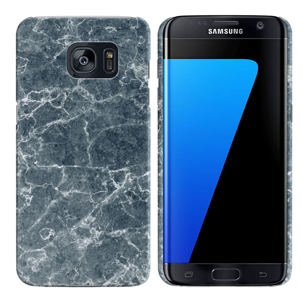 Samsung Galaxy S7 Edge G935 Blue Stone Marble Back Cover Case
