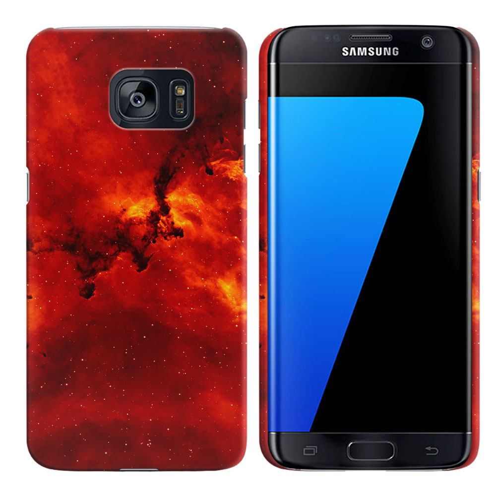 Samsung Galaxy S7 Edge G935 Fiery Galaxy Back Cover Case