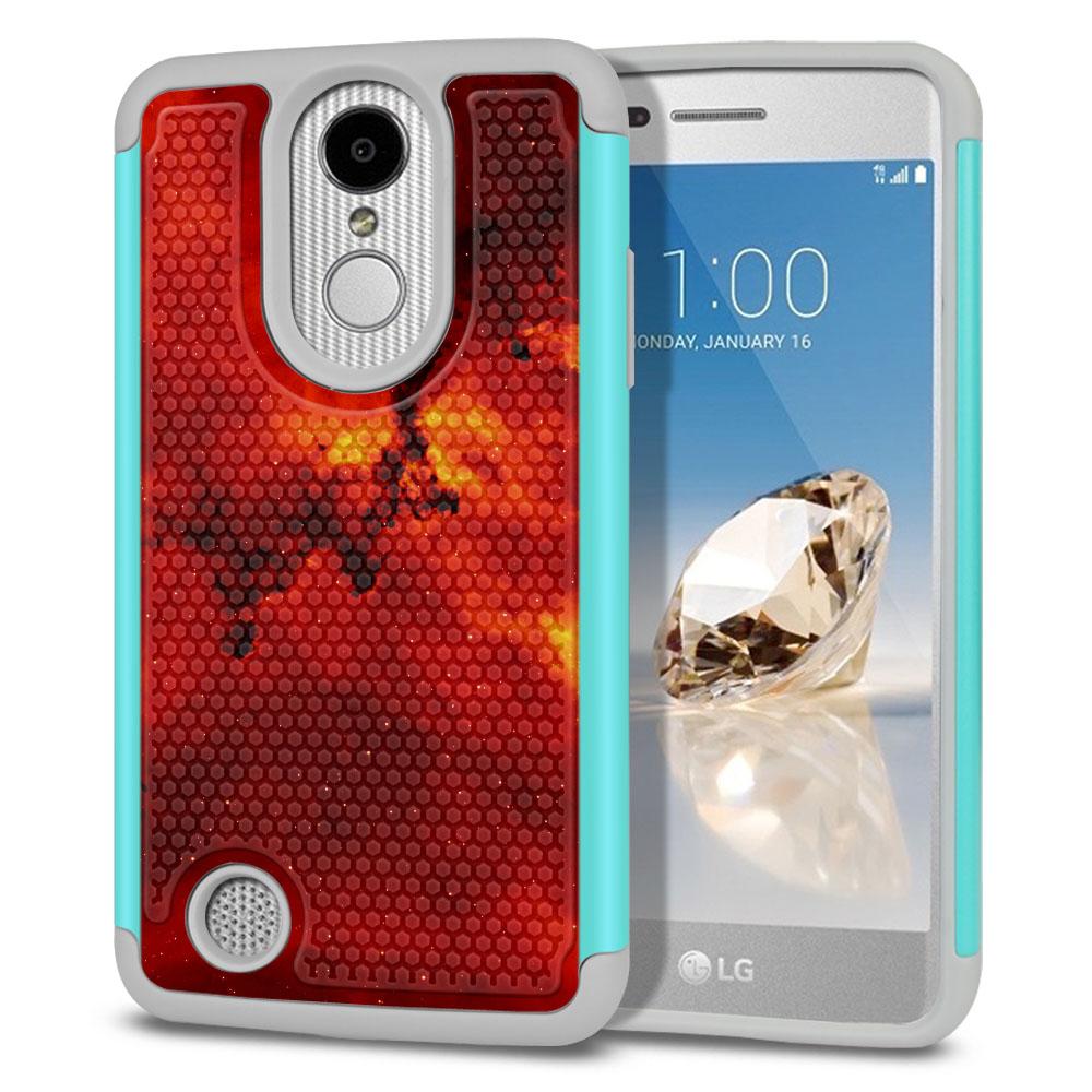 LG Aristo MS210 LV3-LG K8 (2017)-LG Phoenix 3 M150-LG Fortune Hybrid Football Skin Fiery Galaxy Protector Cover Case