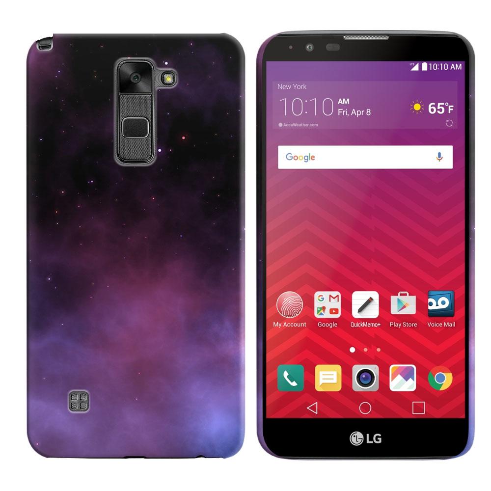LG Stylus 2 LS775 K520 Stylo 2-LG Stylo 2 V VS835 Purple Space Stars Back Cover Case