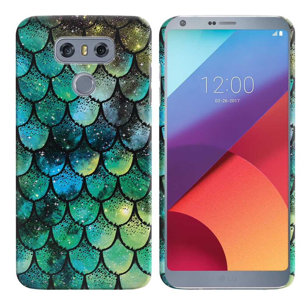 LG G6 H870-H871-H872-H873-US997-LS993-VS998-AS993-G6  Plus US997 Green Mermaid Scales Back Cover Case