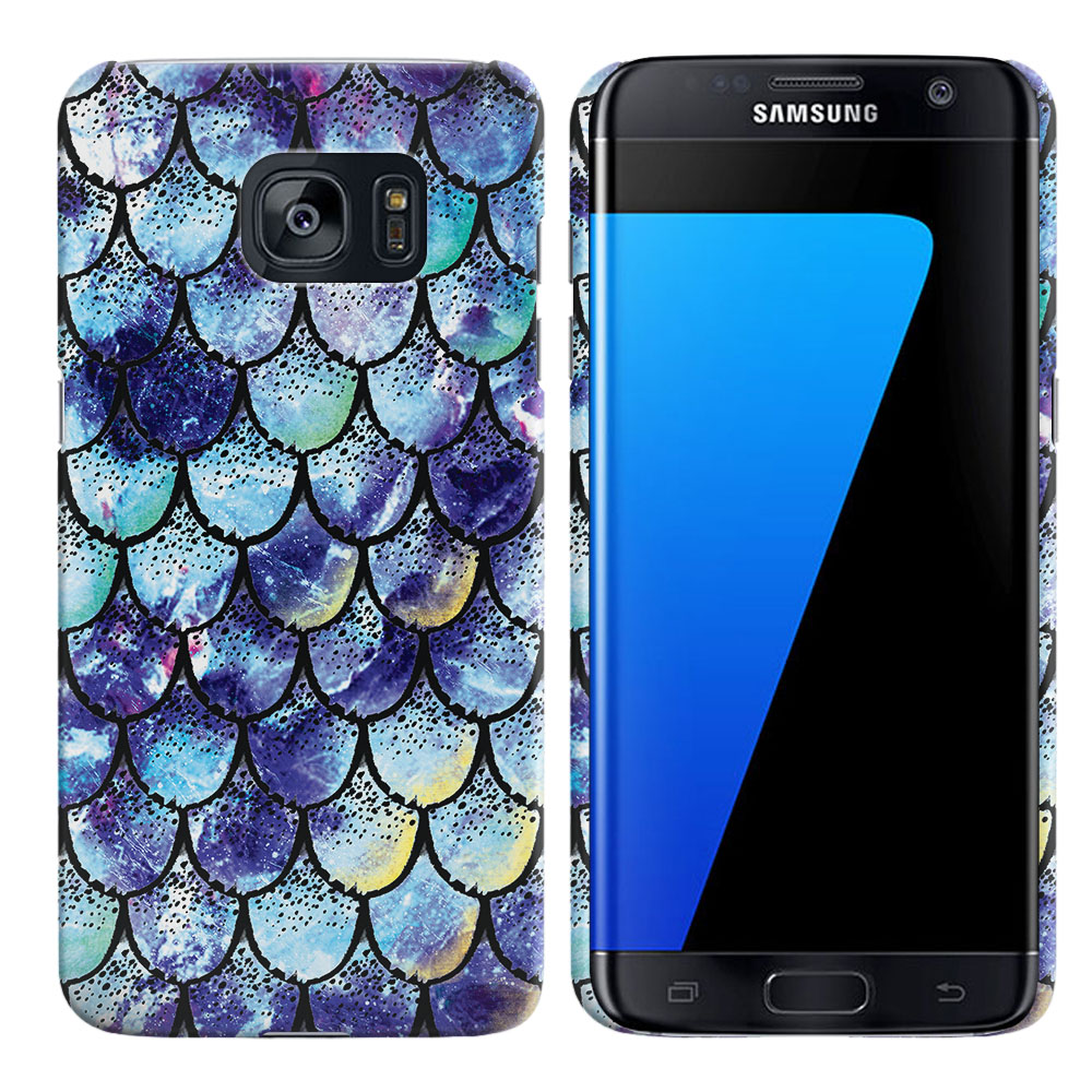 Samsung Galaxy S7 Edge G935 Purple Mermaid Scales Back Cover Case