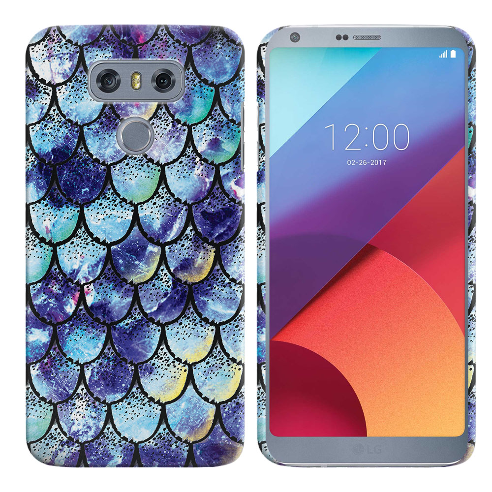 LG G6 H870-H871-H872-H873-US997-LS993-VS998-AS993-G6  Plus US997 Purple Mermaid Scales Back Cover Case