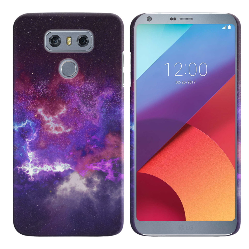 LG G6 H870-H871-H872-H873-US997-LS993-VS998-AS993-G6  Plus US997 Purple Nebula Space Back Cover Case