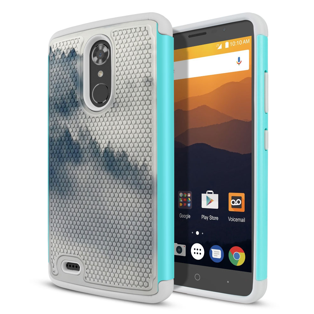 ZTE Max XL N9560 Texture Hybrid Winter Trees Protector Cover Case