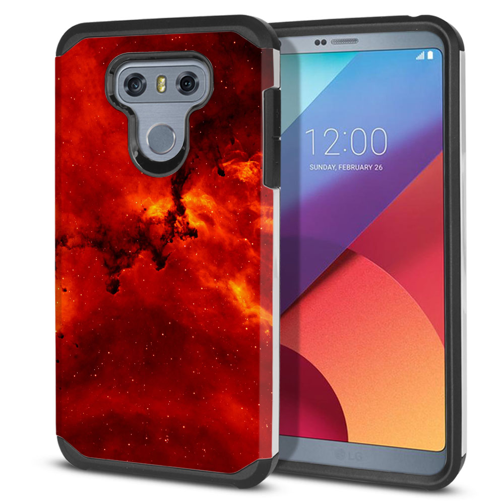 LG G6 H870-H871-H872-H873-US997-LS993-VS998-AS993-G6  Plus US997 Hybrid Slim Fusion Fiery Galaxy Protector Cover Case