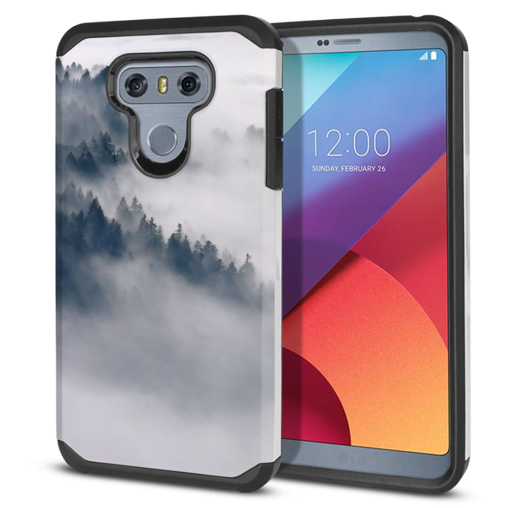 LG G6 H870-H871-H872-H873-US997-LS993-VS998-AS993-G6  Plus US997 Hybrid Slim Fusion Winter Trees Protector Cover Case