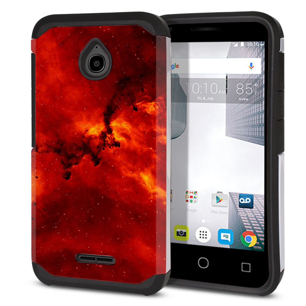 Alcatel Dawn 5027/ Acquire/ Streak/ Ideal 4060A Hybrid Slim Fusion Fiery Galaxy Protector Cover Case