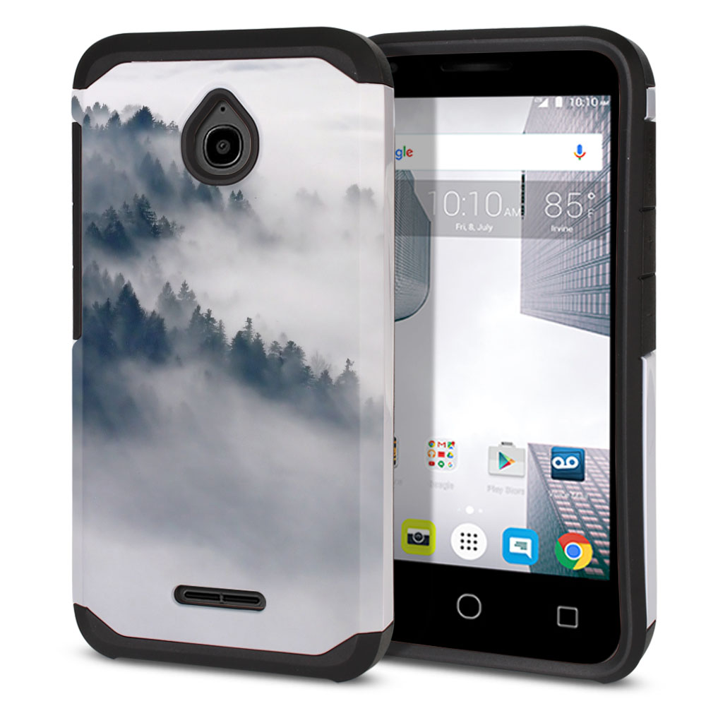 Alcatel Dawn 5027/ Acquire/ Streak/ Ideal 4060A Hybrid Slim Fusion Winter Trees Protector Cover Case