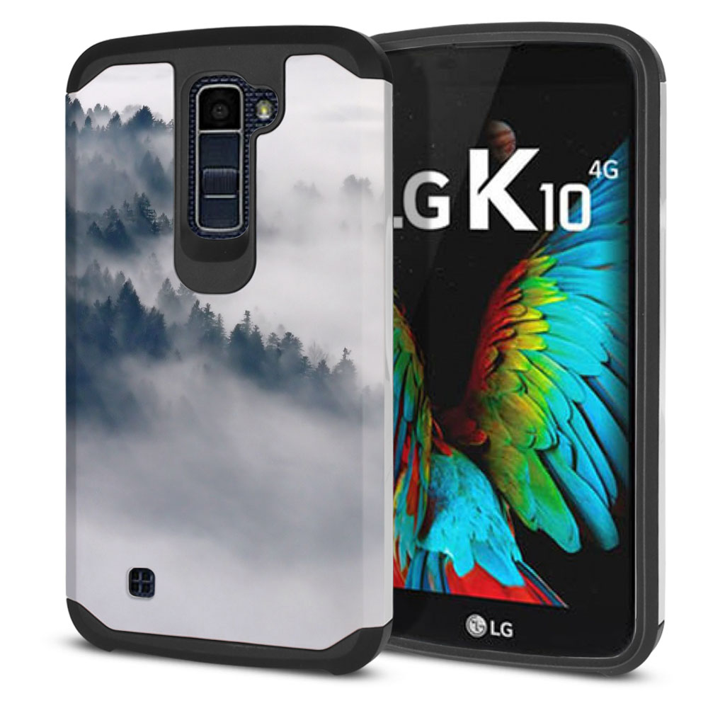 LG K10-LG Premier LTE L62VL L61AL K428 K430 K420 K420N Hybrid Slim Fusion Winter Trees Protector Cover Case