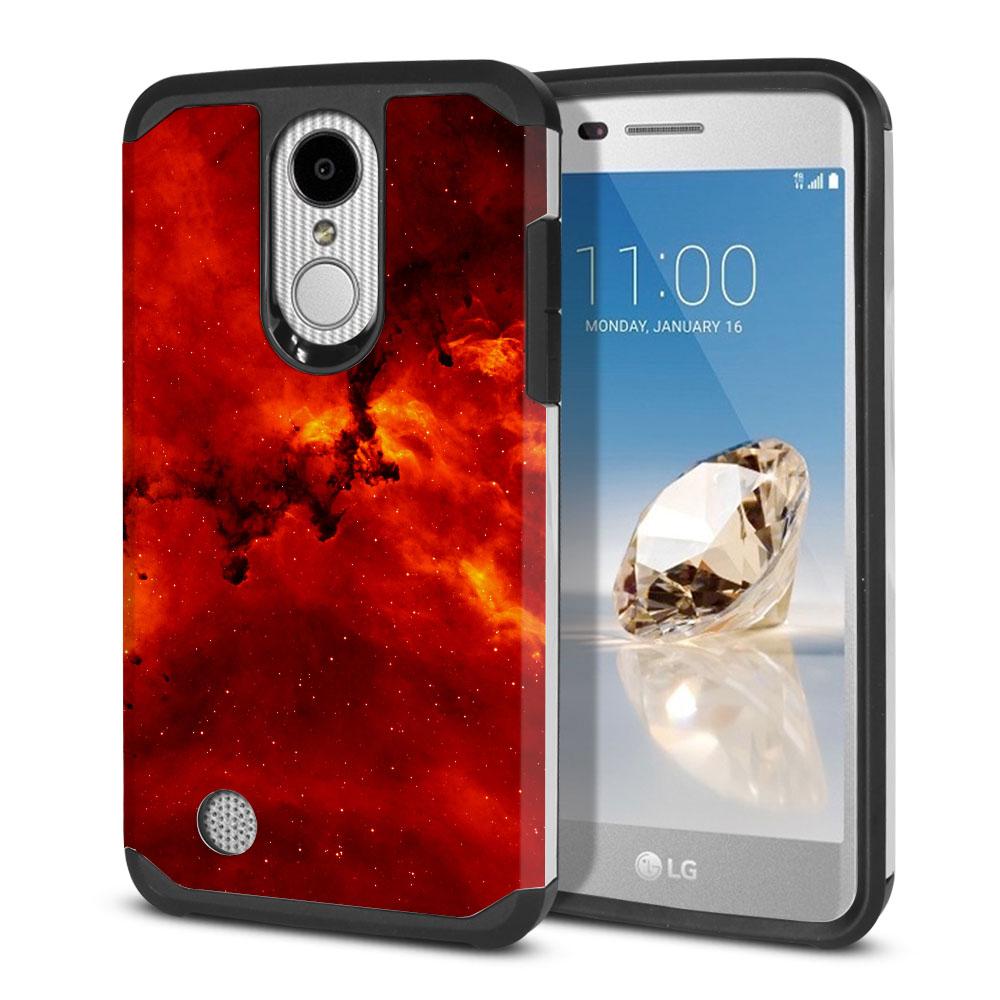 LG Aristo MS210 LV3-LG K8 (2017)-LG Phoenix 3 M150-LG Fortune Hybrid Slim Fusion Fiery Galaxy Protector Cover Case