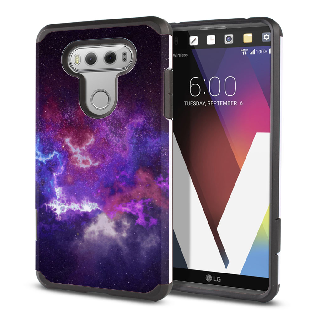 LG V20-LG VS995 H990 LS997 H910 H918 US996 Hybrid Slim Fusion Purple Nebula Space Protector Cover Case