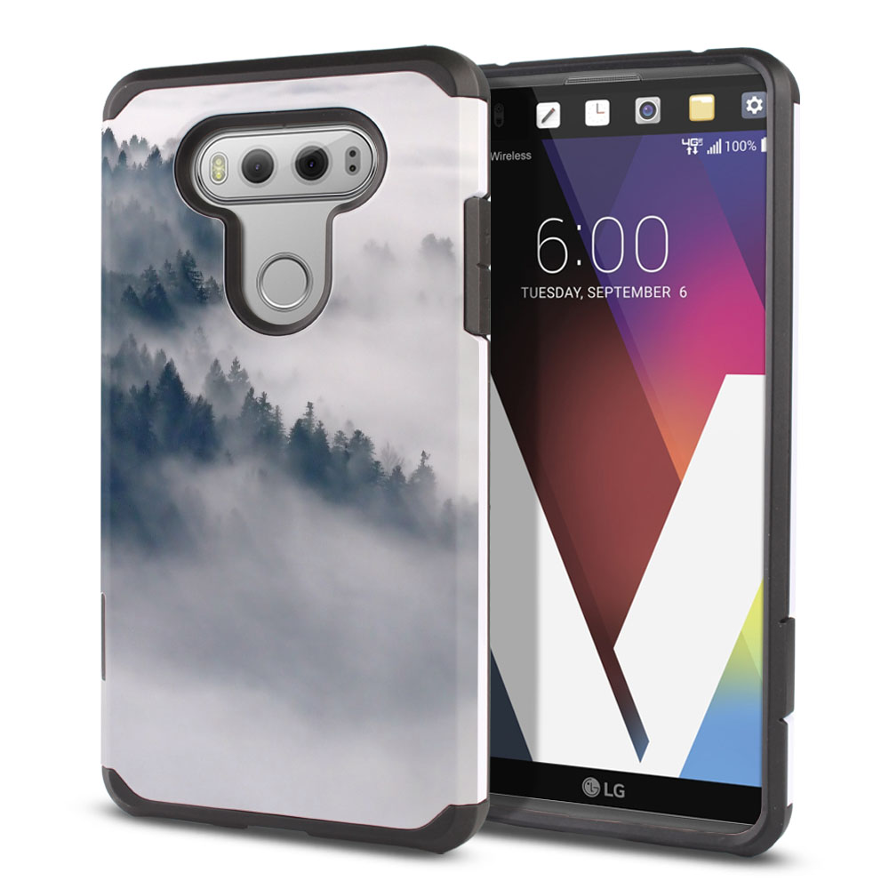 LG V20-LG VS995 H990 LS997 H910 H918 US996 Hybrid Slim Fusion Winter Trees Protector Cover Case