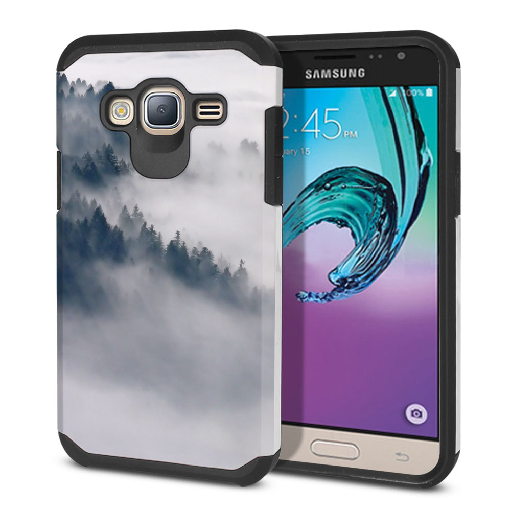 Samsung Galaxy J3 J310 J320 Hybrid Slim Fusion Winter Trees Protector Cover Case