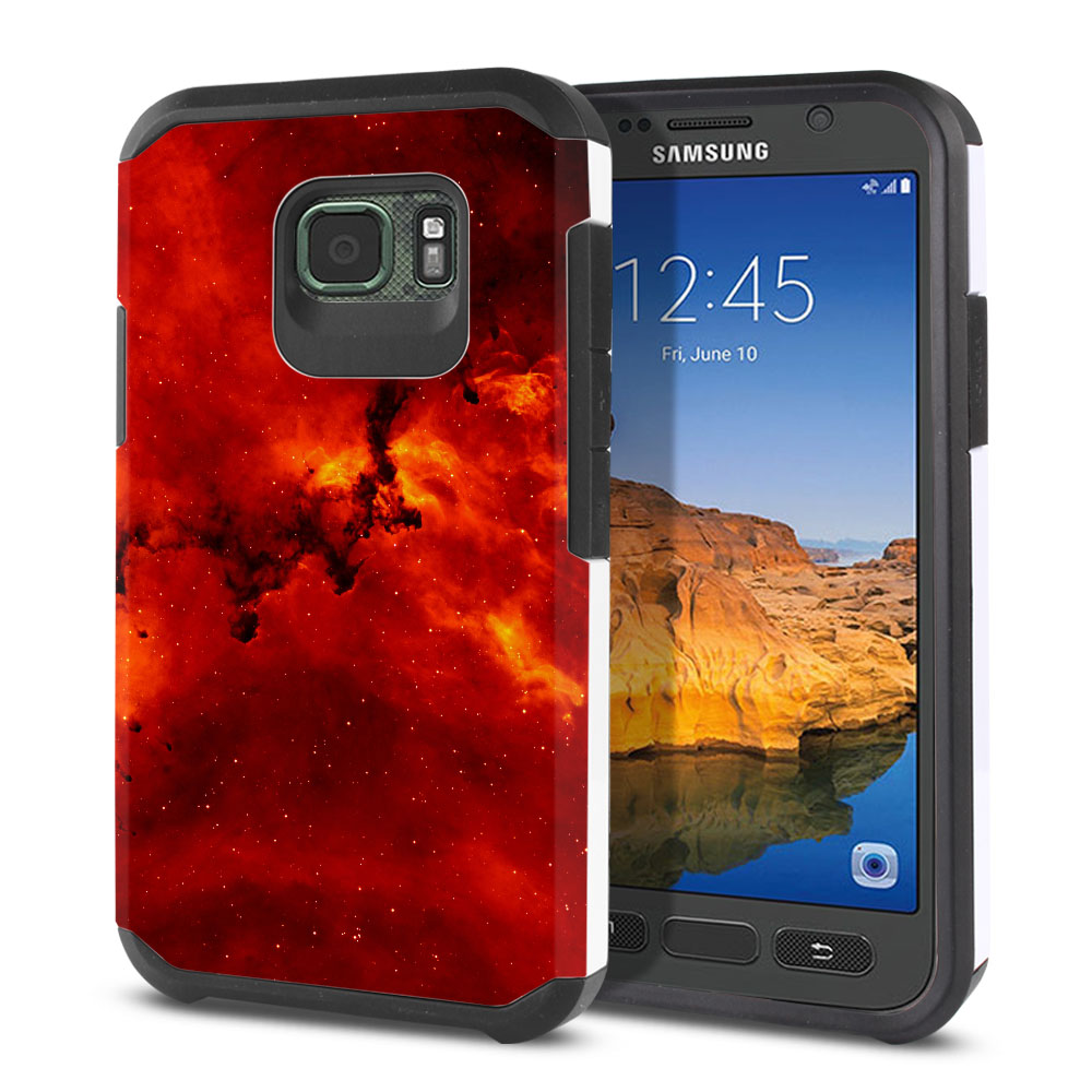 Samsung Galaxy S7 Active G891 Hybrid Slim Fusion Fiery Galaxy Protector Cover Case