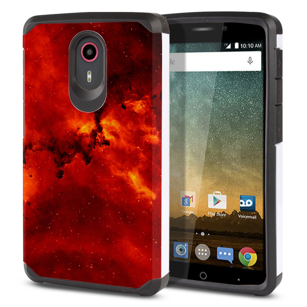 ZTE N817-ZTE Quest Uhura Hybrid Slim Fusion Fiery Galaxy Protector Cover Case