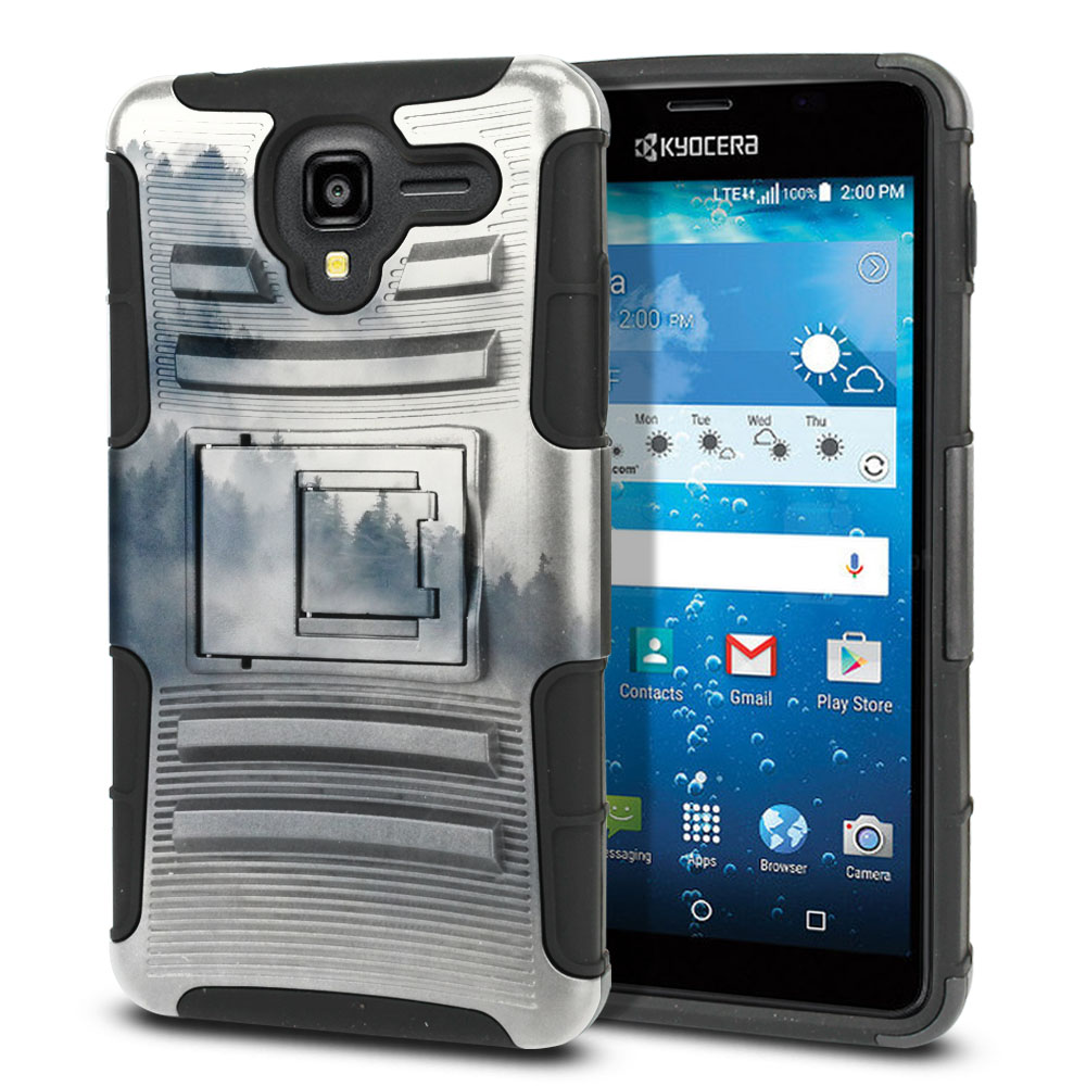 Kyocera Hydro View C6742 Hybrid Rigid Stand Winter Trees Protector Cover Case