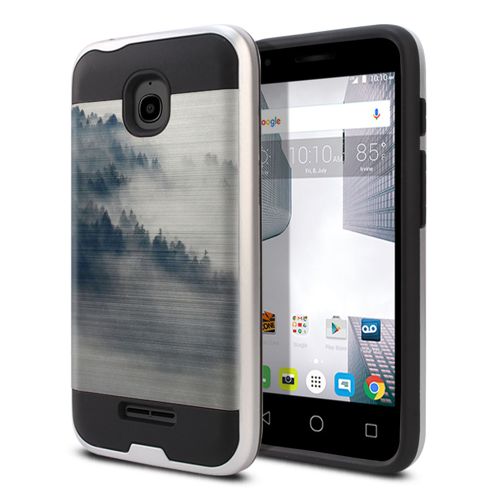 Alcatel Dawn 5027/ Acquire/ Streak/ Ideal 4060A Hybrid Fusion Brushed Winter Trees Protector Cover Case