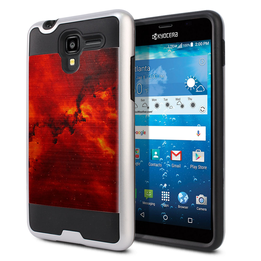 Kyocera Hydro View C6742 Hybrid Fusion Brushed Fiery Galaxy Protector Cover Case