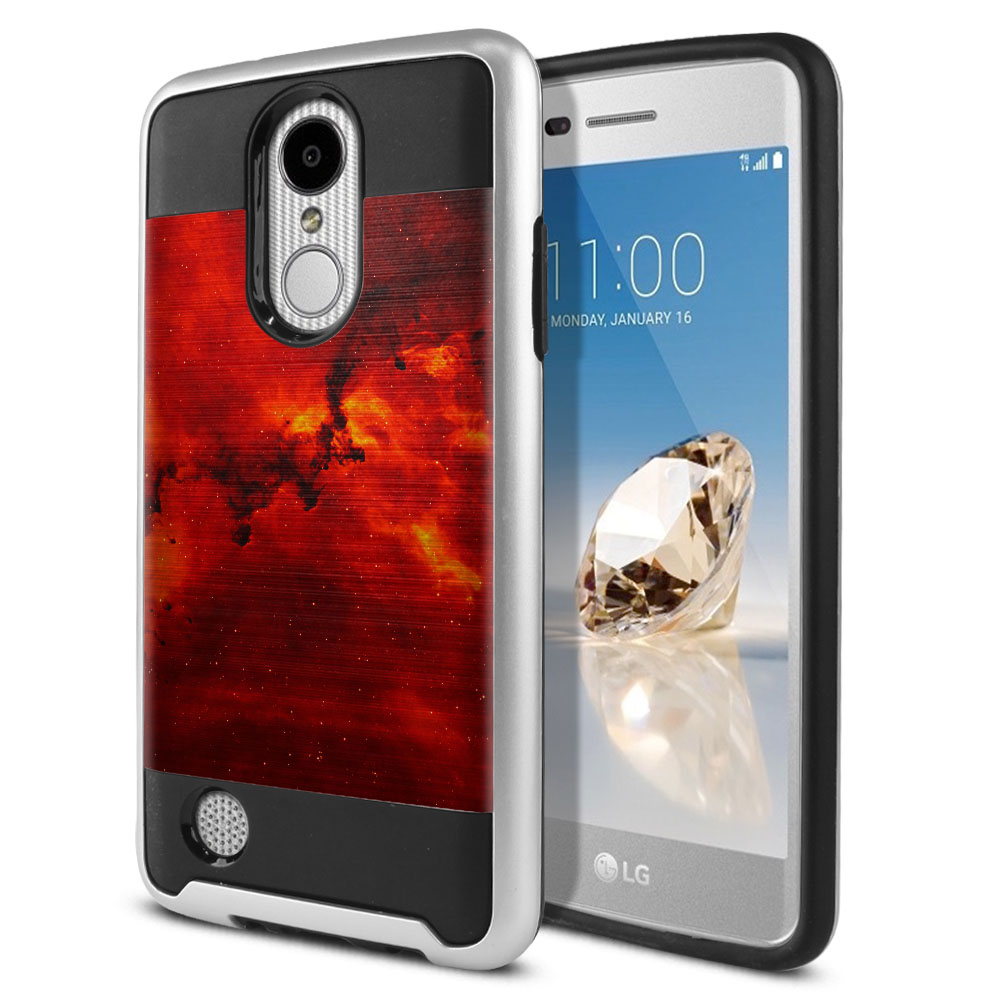 LG Aristo MS210 LV3 K8 (2017)/ Phoenix 3 M150 Hybrid Fusion Brushed Fiery Galaxy Protector Cover Case