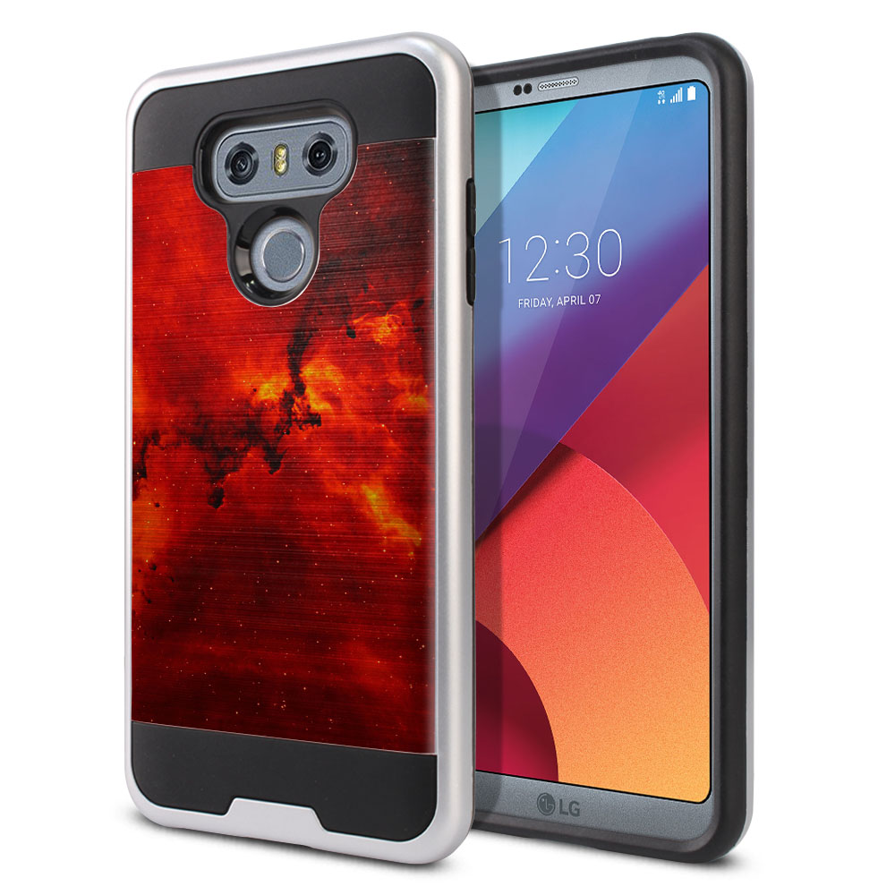 LG G6 H870 Hybrid Fusion Brushed Fiery Galaxy Protector Cover Case