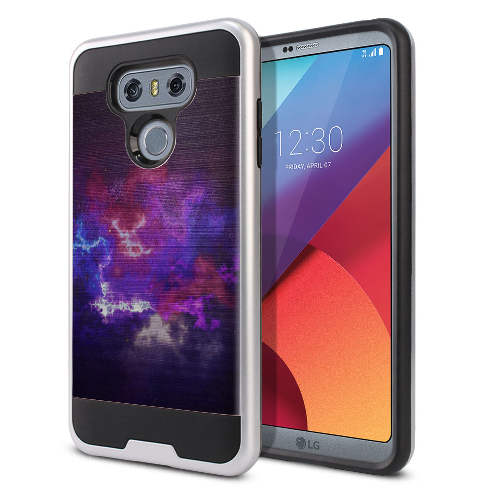 LG G6 H870 Hybrid Fusion Brushed Purple Nebula Space Protector Cover Case