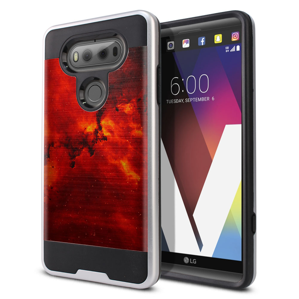 LG V20 VS995 H990 LS997 H910 H918 US996 Hybrid Fusion Brushed Fiery Galaxy Protector Cover Case