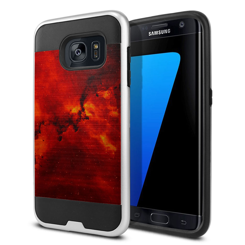 Samsung Galaxy S7 Edge G935 Hybrid Fusion Brushed Fiery Galaxy Protector Cover Case