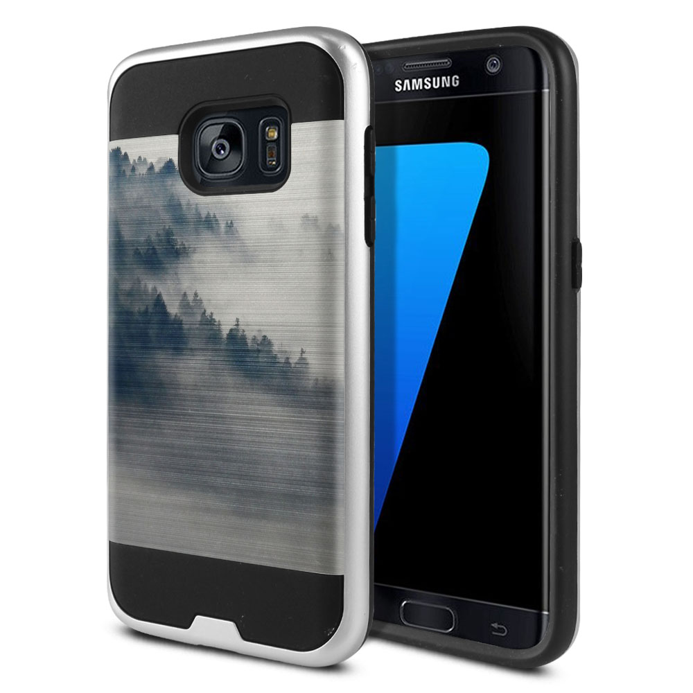 Samsung Galaxy S7 G930 Hybrid Fusion Brushed Winter Trees Protector Cover Case