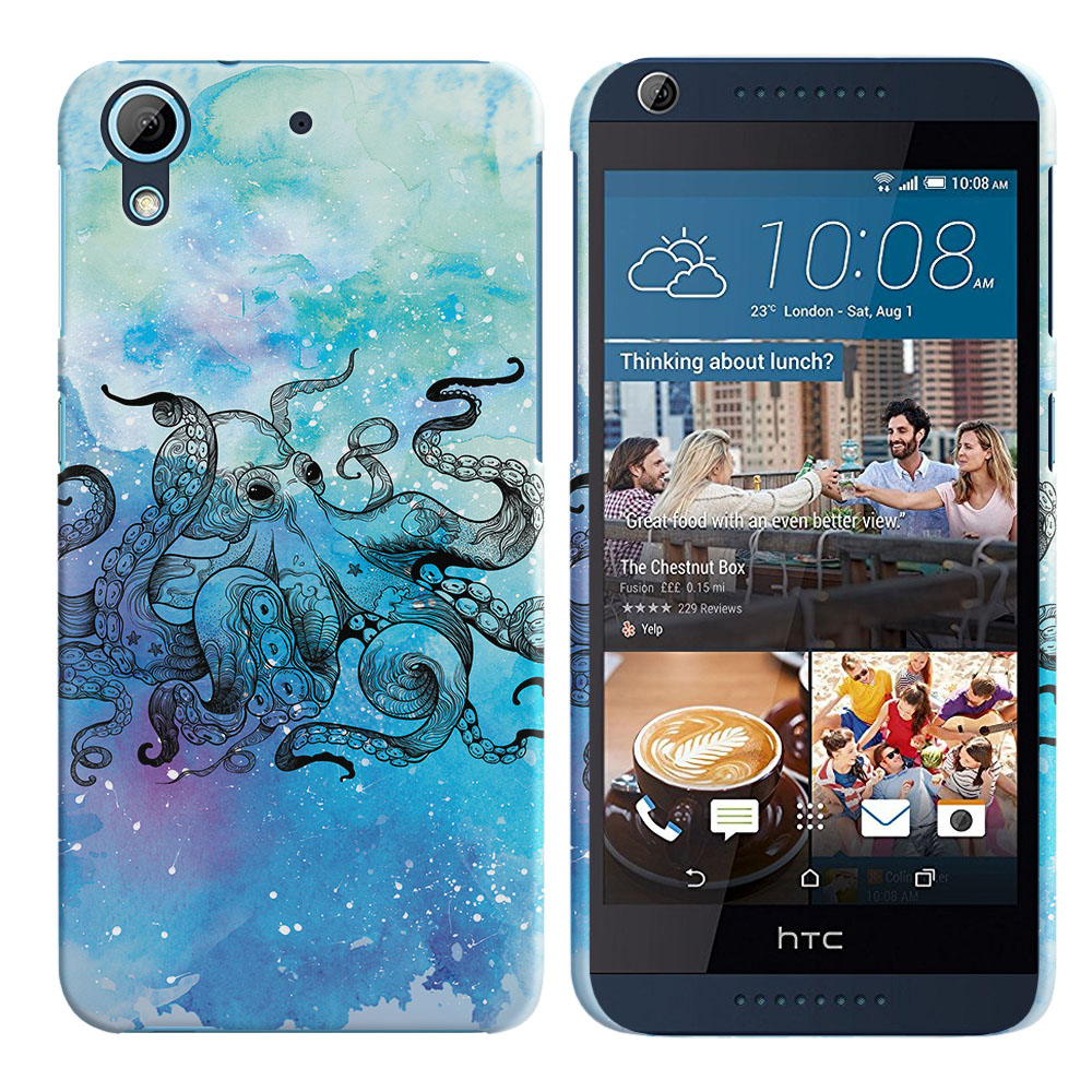 HTC Desire 626-HTC Desire 626S Blue Water Octopus Back Cover Case
