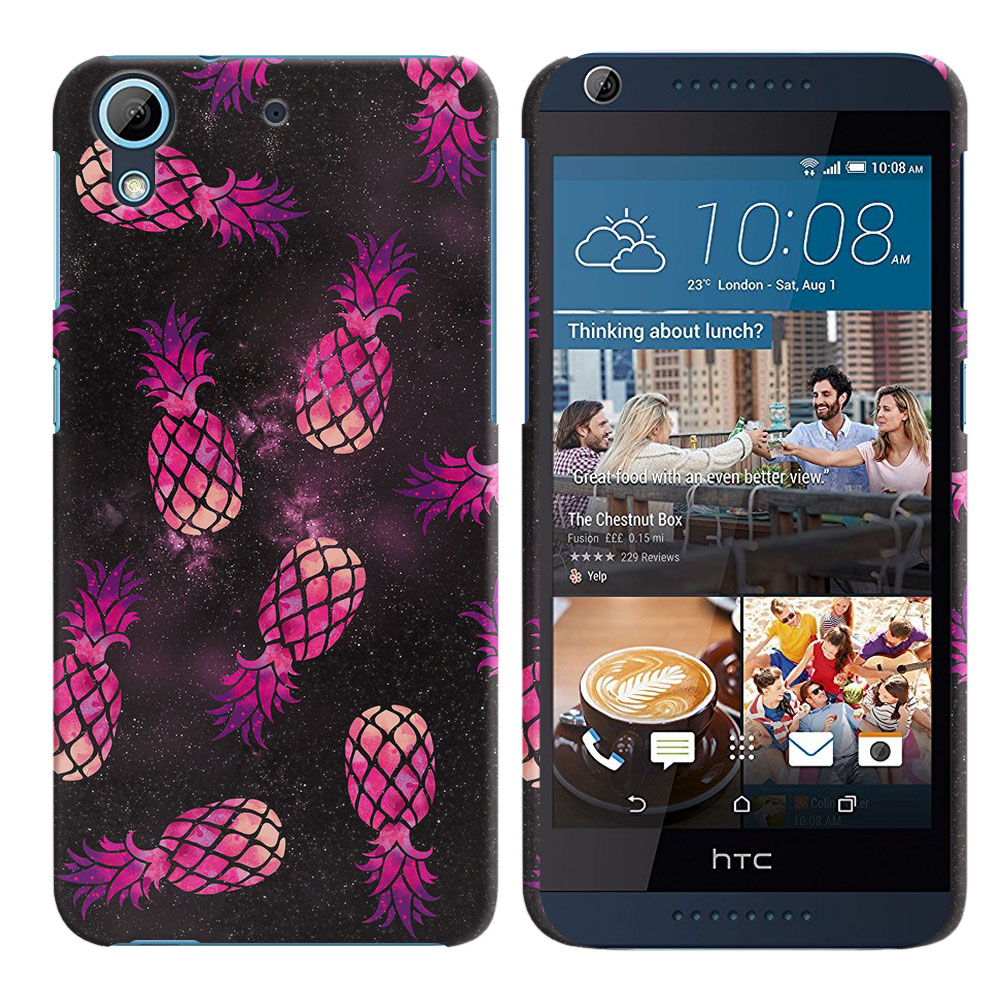 HTC Desire 626-HTC Desire 626S Hot Pink Pineapple Pattern In Galaxy Back Cover Case