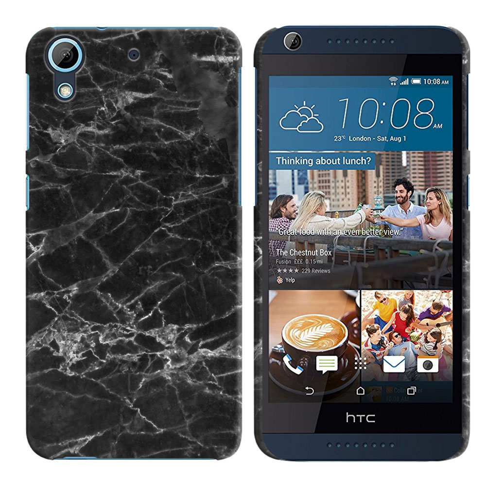 HTC Desire 626-HTC Desire 626S Black Stone Marble Back Cover Case