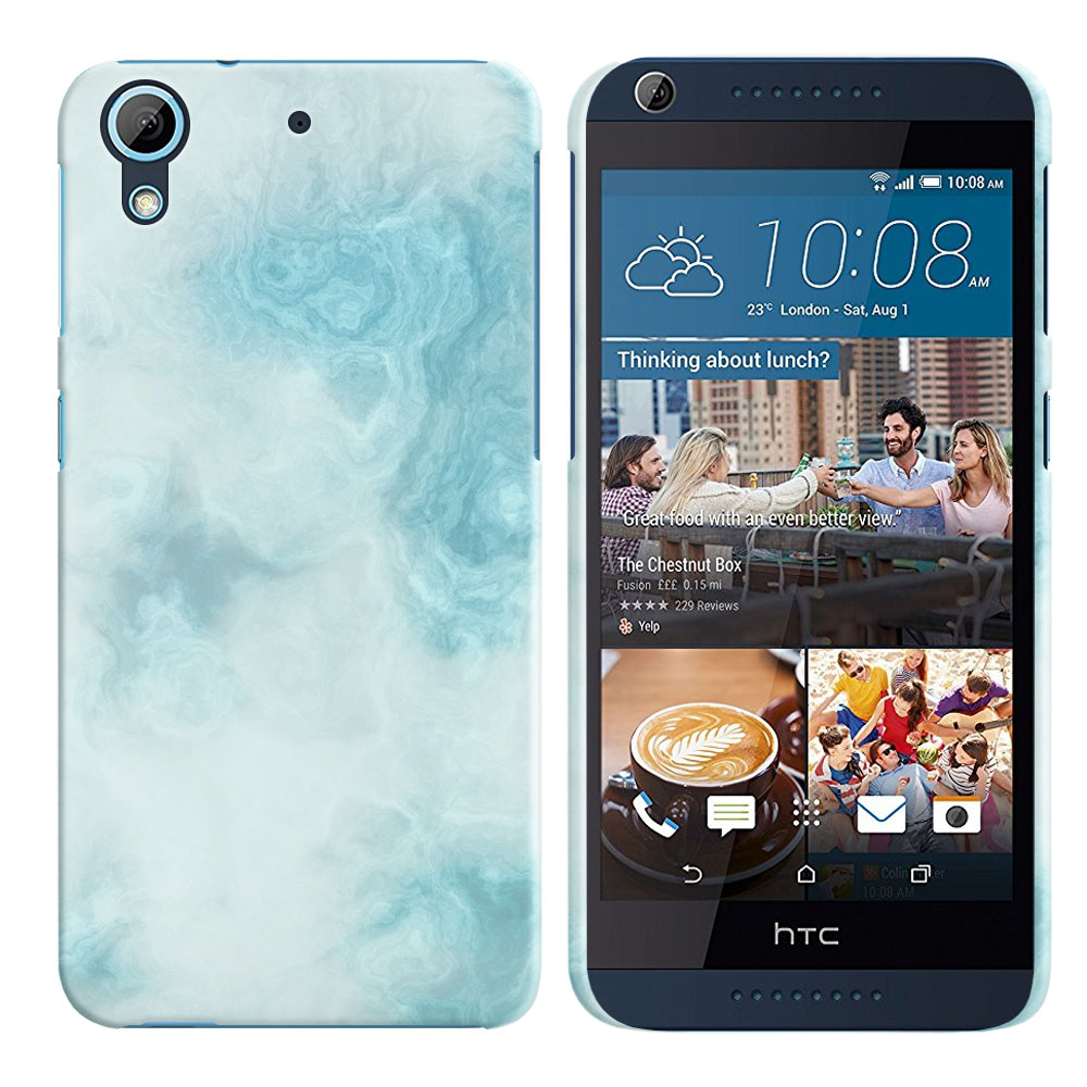 HTC Desire 626-HTC Desire 626S Blue Cloudy Marble Back Cover Case
