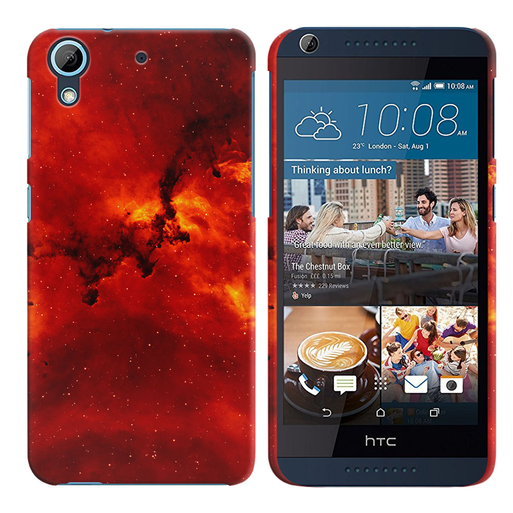HTC Desire 626-HTC Desire 626S Fiery Galaxy Back Cover Case