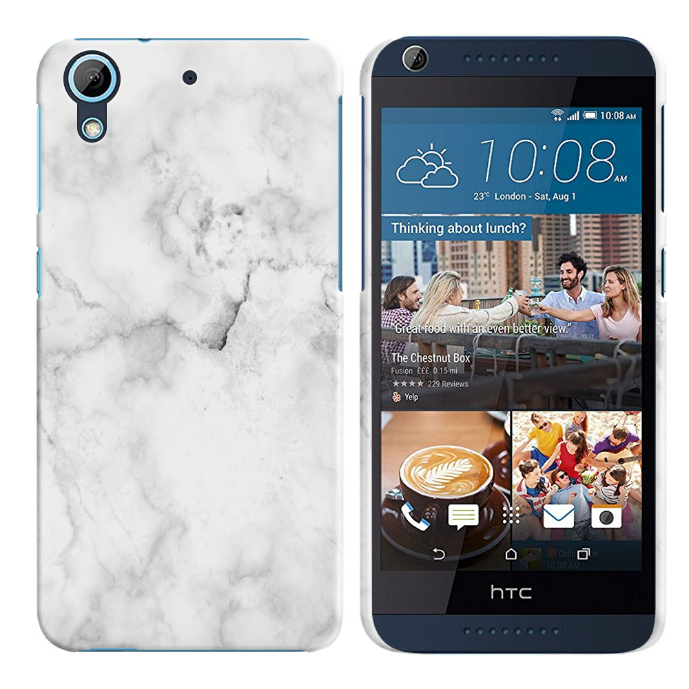 HTC Desire 626-HTC Desire 626S Grey Cloudy Marble Back Cover Case