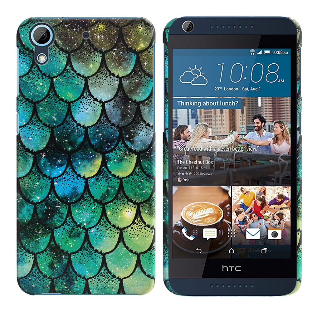 HTC Desire 626-HTC Desire 626S Green Mermaid Scales Back Cover Case