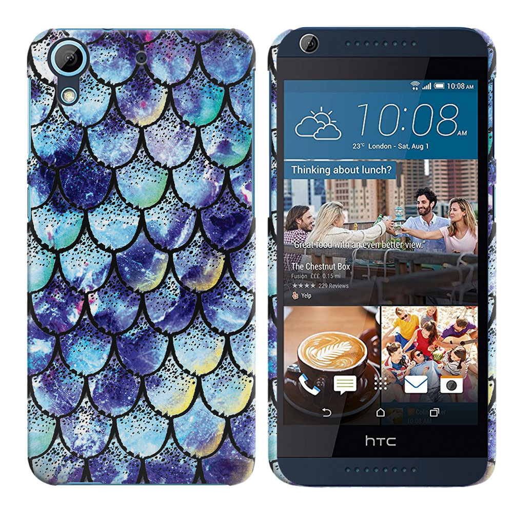 HTC Desire 626-HTC Desire 626S Purple Mermaid Scales Back Cover Case