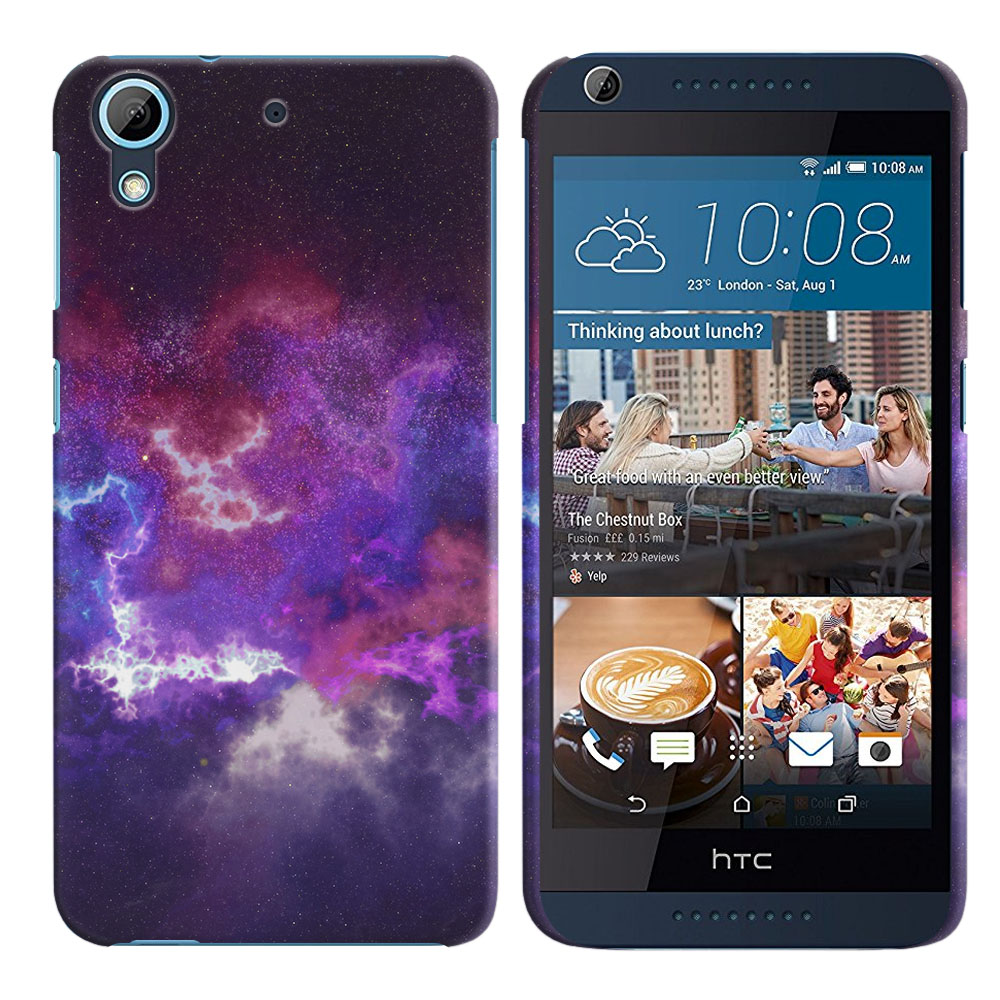 HTC Desire 626-HTC Desire 626S Purple Nebula Space Back Cover Case