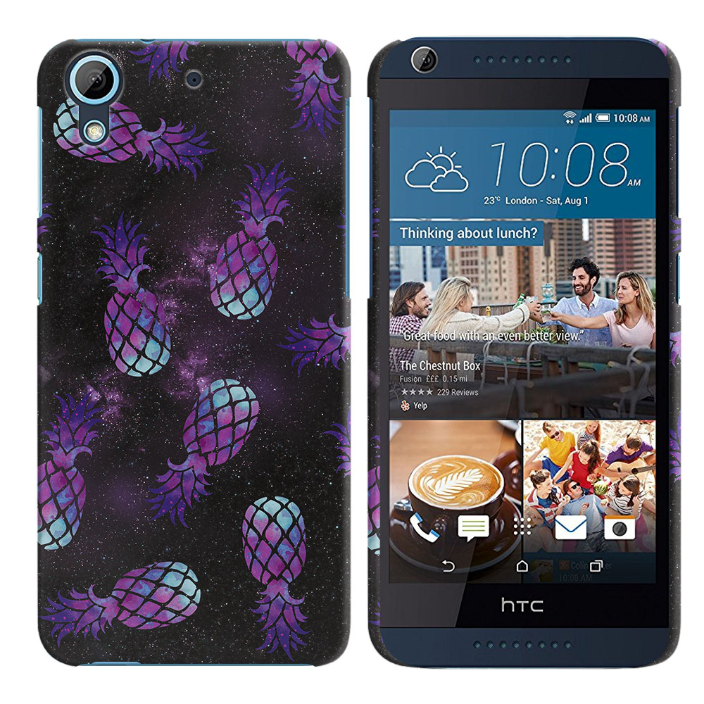 HTC Desire 626-HTC Desire 626S Purple Pineapples Galaxy Back Cover Case
