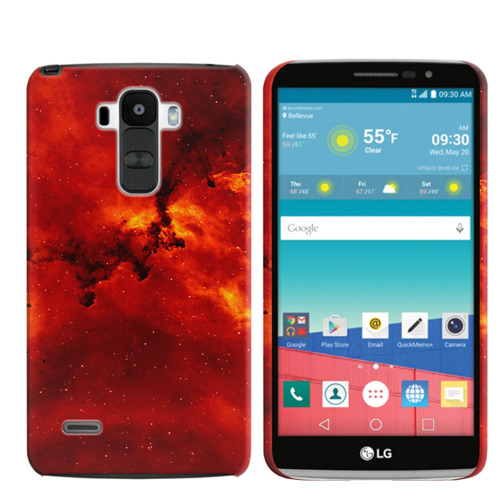 LG G Stylo LS770 G4 Note Fiery Galaxy Back Cover Case