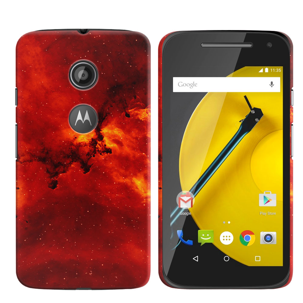 Motorola Moto E LTE 2nd Gen 2015 Fiery Galaxy Back Cover Case