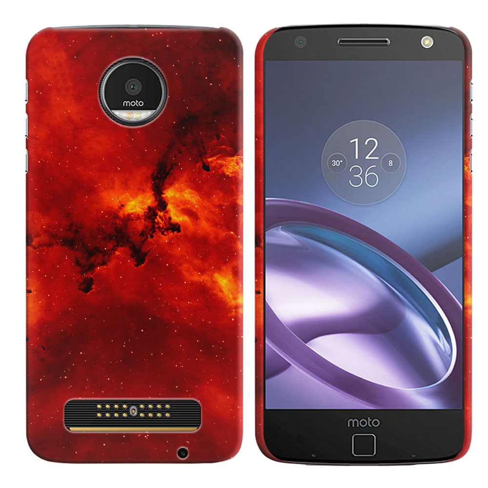 Motorola Moto Z Droid Edition Fiery Galaxy Back Cover Case