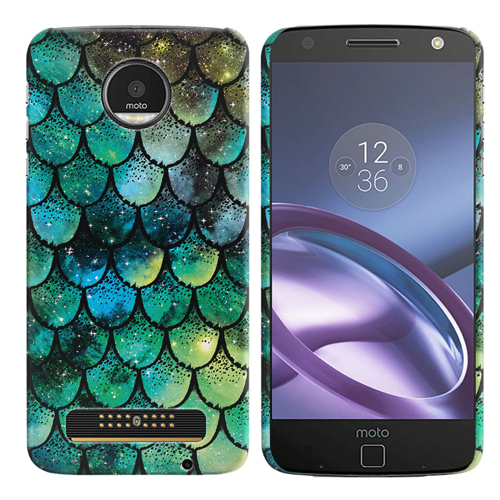 Motorola Moto Z Droid Edition Green Mermaid Scales Back Cover Case