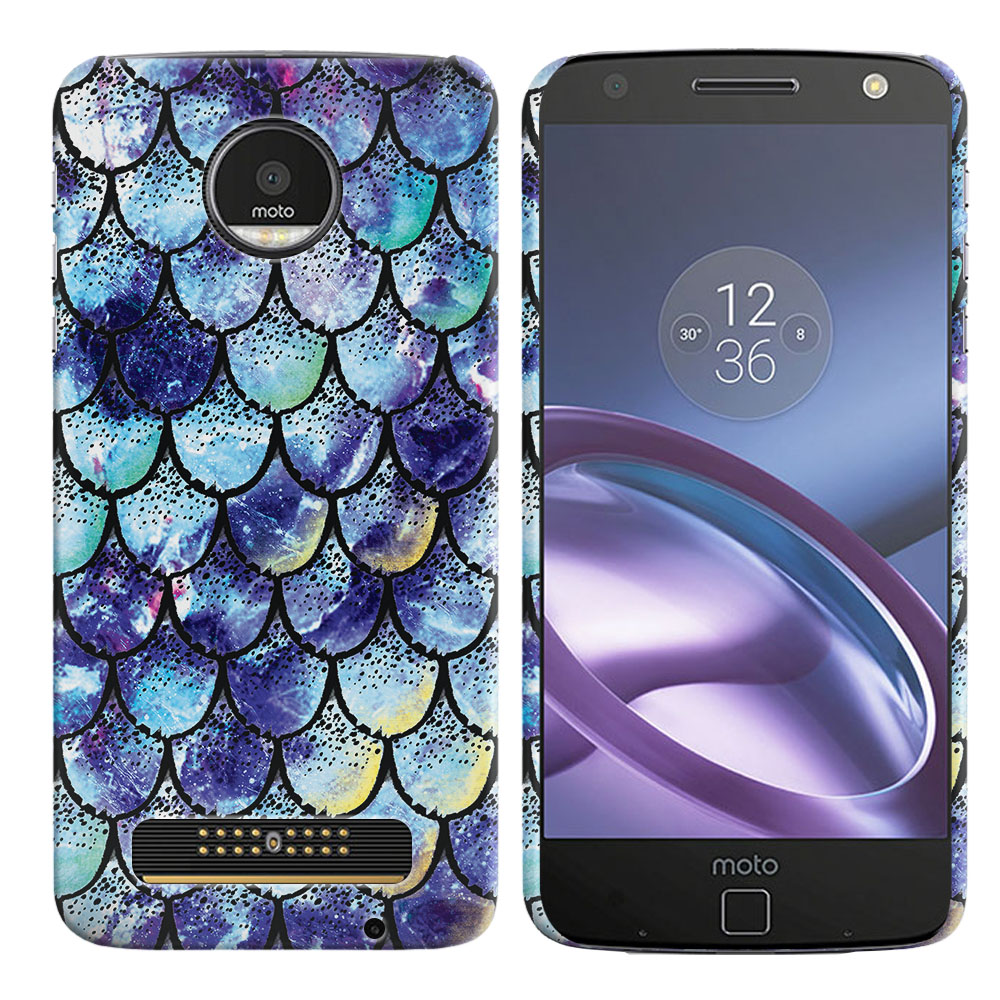 Motorola Moto Z Droid Edition Purple Mermaid Scales Back Cover Case