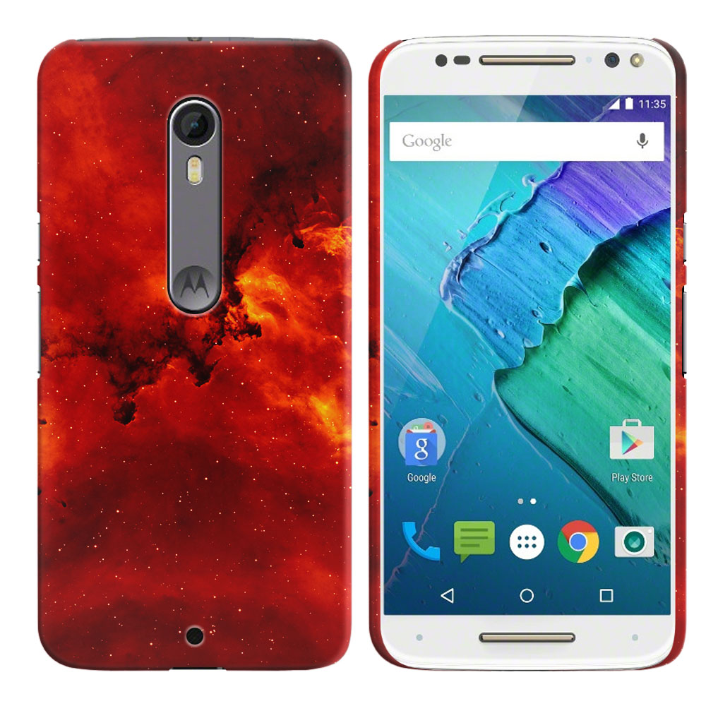 Motorola Moto X Style XT1575 Pure Edition 3rd Gen Fiery Galaxy Back Cover Case